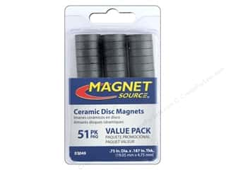 magnet: The Magnet Source Ceramic Disc Magnets 3/4 in. 51 pc.