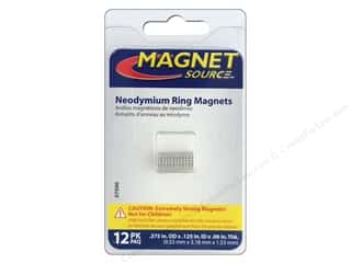 magnet: The Magnet Source Super Neodymium Magnet Rings 3/8 in. 12 pc.