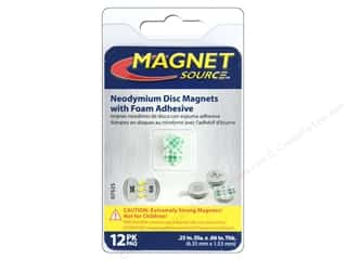 magnet disc: The Magnet Source Super Neodymium Magnet Discs with Adhesive 1/4 in. 12 pc