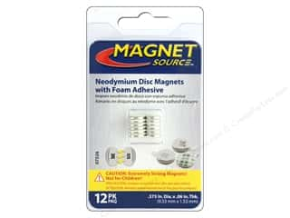 craft & hobbies: The Magnet Source Super Neodymium Magnet Discs with Adhesive 3/8 in. 12 pc.