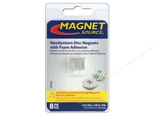 Magnets: The Magnet Source Super Neodymium Magnet Discs with Adhesive 1/2 in. 8 pc.