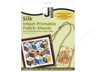 scrapbooking & paper crafts: Jacquard Inkjet Fabric Sheet 8.5 in. x 11 in. Silk Organza 10 pc