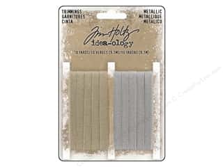 christmas ribbon: Tim Holtz Idea-ology Christmas Metallic Trimming 2 pc