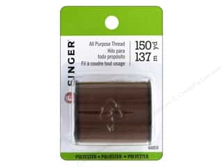 Singer Thread All Purpose Polyester 150 yd. Brown