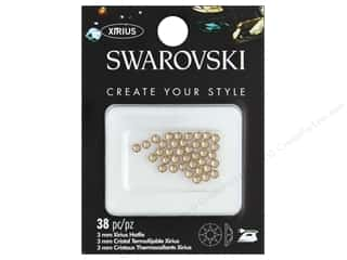 Cousin Swarovski Hotfix 3 mm Light Topaz 38 pc