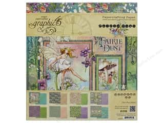 Graphic 45 Fairie Dust Paper Pad 8 in. x 8 in.