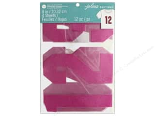 EK Jolee's Boutique Iron On Transfer 8 in. Number Glitter Pink
