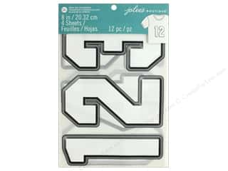 EK Jolee's Boutique Iron On Transfer 8 in. Number White