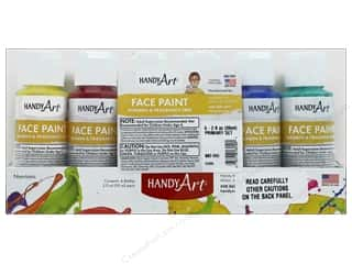 craft & hobbies: Handy Art Face Paint Set 2 oz Primary 6 pc