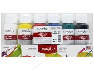 Acrylic Paint Blue: Handy Art Acrylic Paint Set 2 oz Primary 6 pc