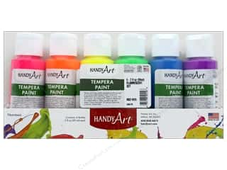 Handy Art Tempera Paint Set 6 pc. Fluorescent
