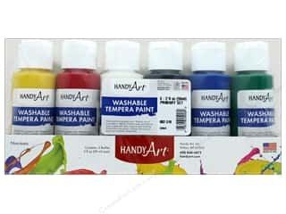 Handy Art Washable Tempra Paint Set 6 pc. Primary