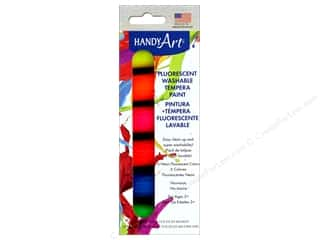Handy Art Washable Tempra Paint Jar Set 6 pc. Fluorescent