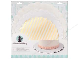 American Crafts Sweet Tooth Fairy Cake Plates Gold