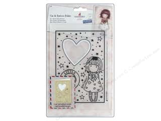 die cuts: Docrafts Santoro Gorjuss Cut/Emboss Folder Heart