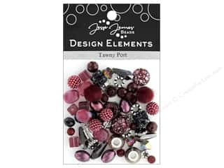 beading & jewelry making supplies: Jesse James Bead Design Element Tawny Port