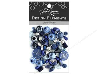 beading & jewelry making supplies: Jesse James Bead Design Element Navy Peony