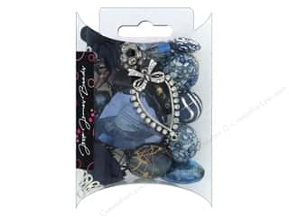 beading & jewelry making supplies: Jesse James Bead Inspirations Navy Peony