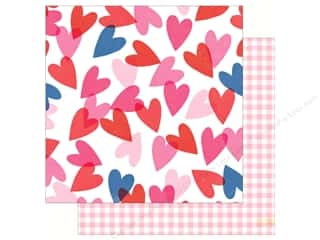 Clearance: Crate Paper Collection Main Squeeze Paper 12 in. x 12 in. Heart Eyes (25 pieces)