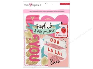 scrapbooking & paper crafts: Crate Paper Main Squeeze Ephemera Glitter Gold