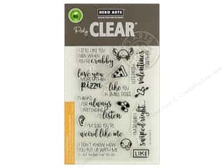 stamps: Hero Arts Poly Clear Stamp I Love You More Than Pizza