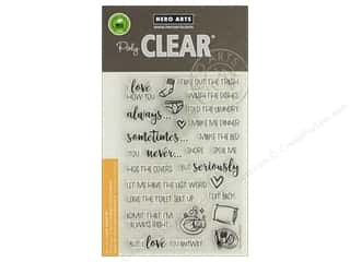 stamp cleared: Hero Arts Poly Clear Stamp I Love How You