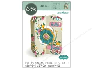 dies: Sizzix Dies Lori Whitlock Thinlits Flower Card