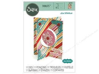 die cuts: Sizzix Dies Lori Whitlock Thinlits Snowflake Card