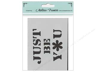 Melissa Frances Stencil 3 in. x 4 in.  Just Be You