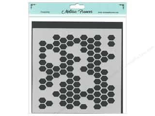 scrapbooking & paper crafts: Melissa Frances Stencil 6 x 6 in. Honeycomb Missing