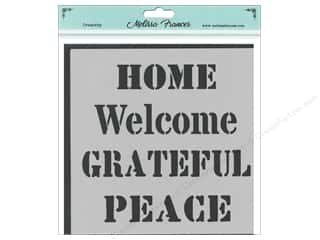 craft & hobbies: Melissa Frances Stencil 6 x 6 in. Home Welcome