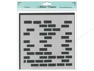 craft & hobbies: Melissa Frances Stencil 6 x 6 in. Bricks Missing
