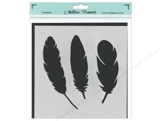 craft & hobbies: Melissa Frances Stencil 6 x 6 in. 3 Feathers