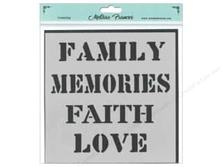craft & hobbies: Melissa Frances Stencil 6 x 6 in. Family Memories