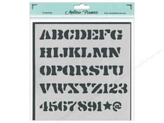 craft & hobbies: Melissa Frances Stencil 6 x 6 in. Alpha