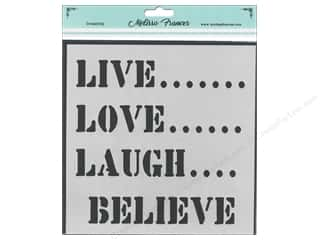 scrapbooking & paper crafts: Melissa Frances Stencil 6 x 6 in. Live Love