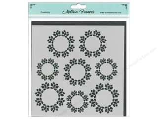 craft & hobbies: Melissa Frances Stencil 6 x 6 in. Wreath