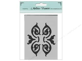 craft & hobbies: Melissa Frances Stencil 3 x 4 in. Baroque Brackets