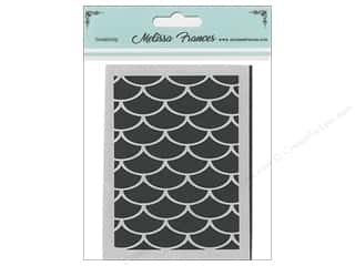 Melissa Frances Stencil 3 x 4 in. Waves