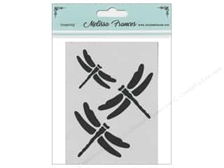 craft & hobbies: Melissa Frances Stencil 3 x 4 in. Dragonflies