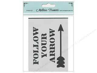craft & hobbies: Melissa Frances Stencil 3 x 4 in. Follow Your Arrow
