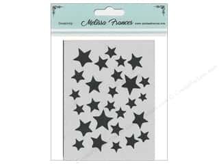 craft & hobbies: Melissa Frances Stencil 3 x 4 in. Star Shower