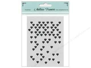 craft & hobbies: Melissa Frances Stencil 3 in. x 4 in. Hearts Mini Missing