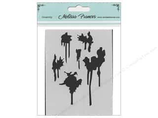 scrapbooking & paper crafts: Melissa Frances Stencil 3 x 4 in. Drips