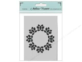 craft & hobbies: Melissa Frances Stencil 3 x 4 in. Wreath
