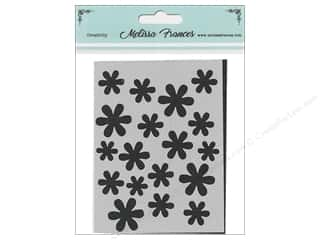 craft & hobbies: Melissa Frances Stencil 3 x 4 in. Flower Shower