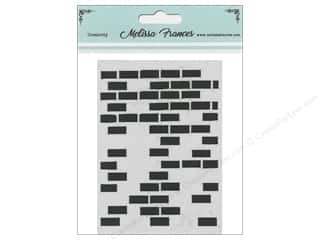 craft & hobbies: Melissa Frances Stencil 3 x 4 in. Bricks Missing