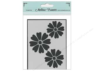 craft & hobbies: Melissa Frances Stencil 3 x 4 in. Flower