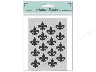 craft & hobbies: Melissa Frances Stencil 3 x 4 in. Fleur De Lis
