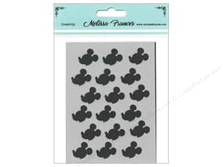 craft & hobbies: Melissa Frances Stencil 3 x 4 in. Mice Profile